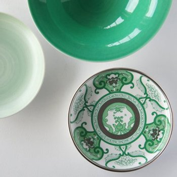 JAPAN GREEN TEA Arita Platinum Porcelain