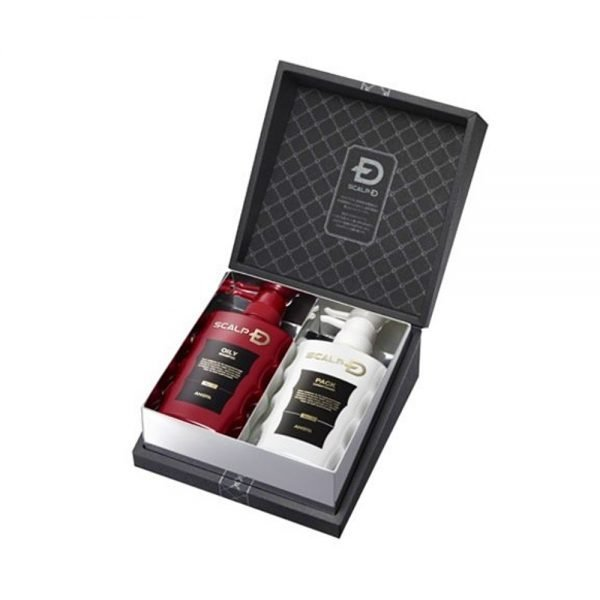 ANGFA SCALP-D Gift Set with Shampoo for Oily Hair & Conditioner - 350ml x 2