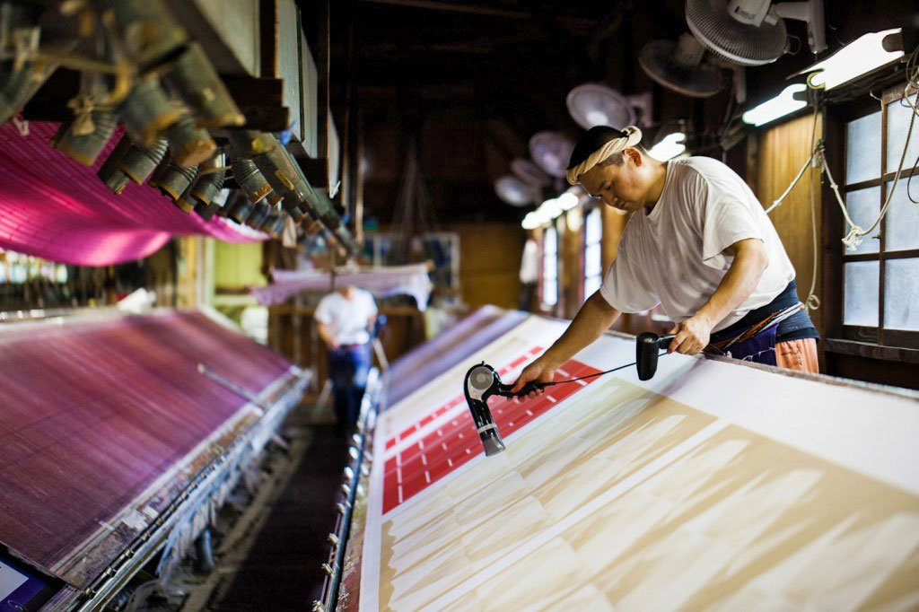 Furoshiki production is one of the oldest industries in Japan