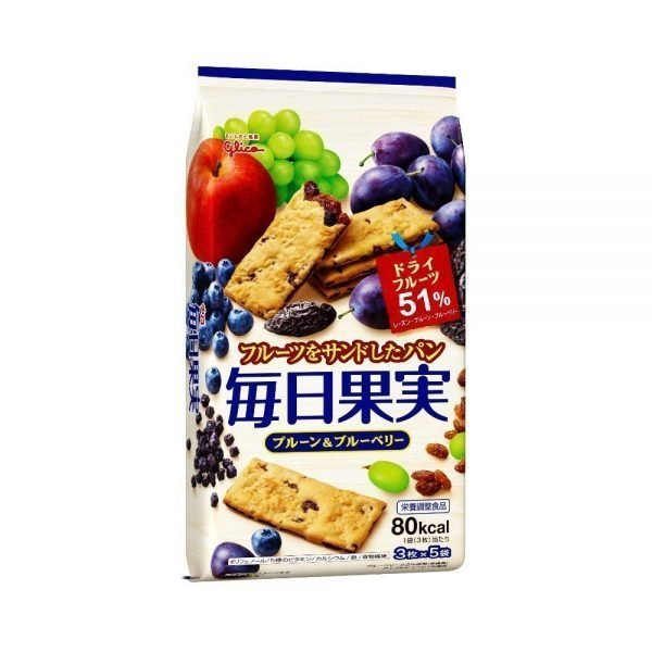 GLICO Mainichi Kajitsu Fruit Crackers - 15pcs