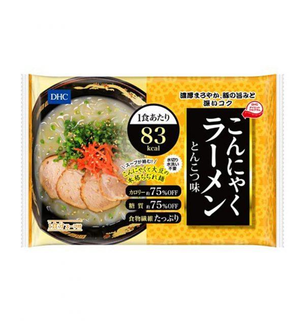 DHC Japanese Diet Konjac Ramen Noodles 65kcal - Tonkotsu Pork Taste 140g x 6pcs