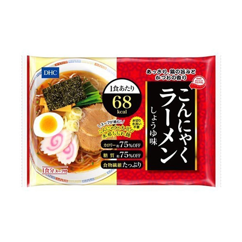 DHC Japanese Diet Konjac Ramen Noodles - Shoyu Soy Sauce 140g x 12pcs