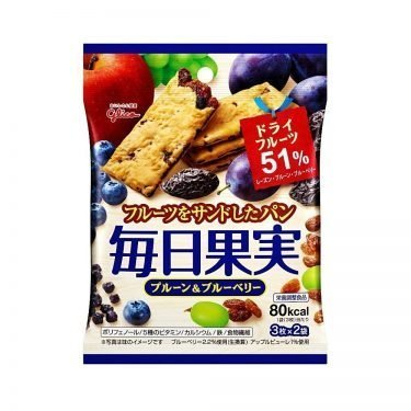 GLICO Mainichi Kajitsu Crackers - Prune & Blueberry 6pcs 80kcal