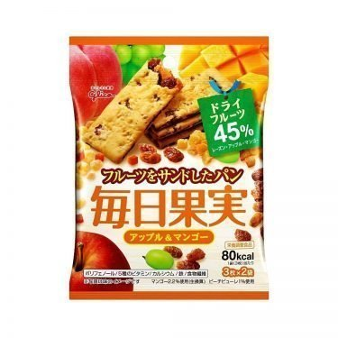 GLICO Mainichi Kajitsu Crackers - Apple & Mango 6pcs 80 kcal