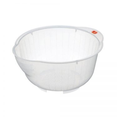 INOMATA Japanese Rice Washing Bowl with Side and Bottom Drainer - Super Bowl 25
