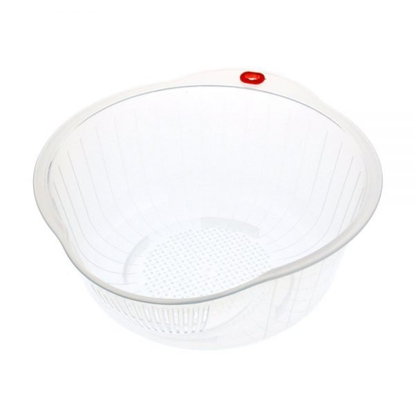 INOMATA Japanese Rice Washing Bowl with Side and Bottom Drainer