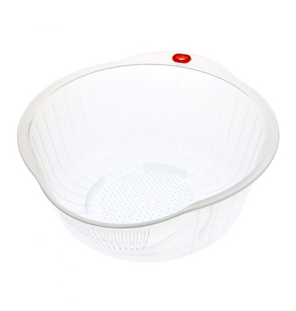 INOMATA Japanese Rice Washing Bowl with Side and Bottom Drainer
