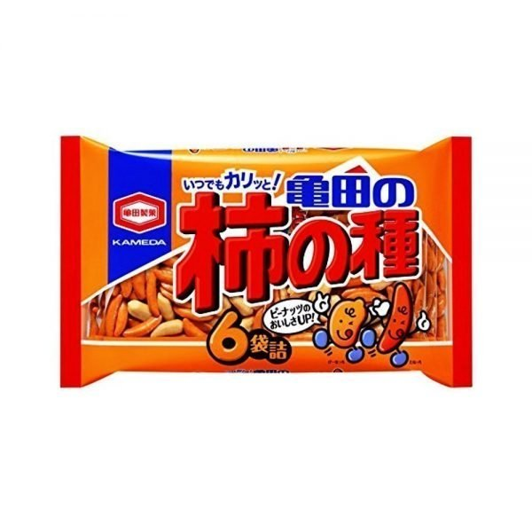 KAMEDA Kaki No Tane Rice Crackers & Peanuts- 6 Bags 182g