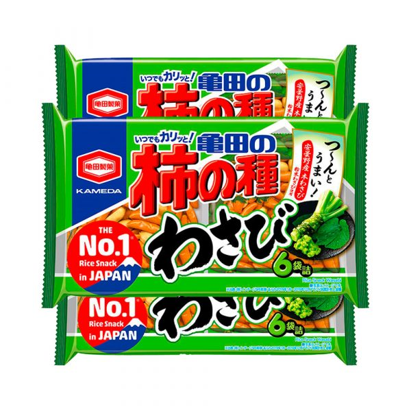 KAMEDA Kakinotane Rice Crackers & Peanuts Wasabi Made in Japan