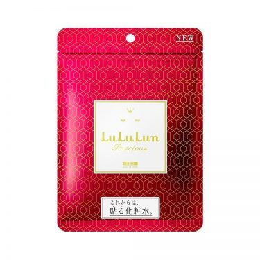 LULULUN Face Mask Precious RS RED - Anti-Aging with Rice Extract 7 Sheets