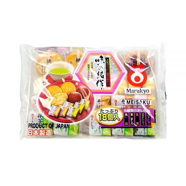 MARUKYO Manju Japanese Sweets Assortment - 18 pcs