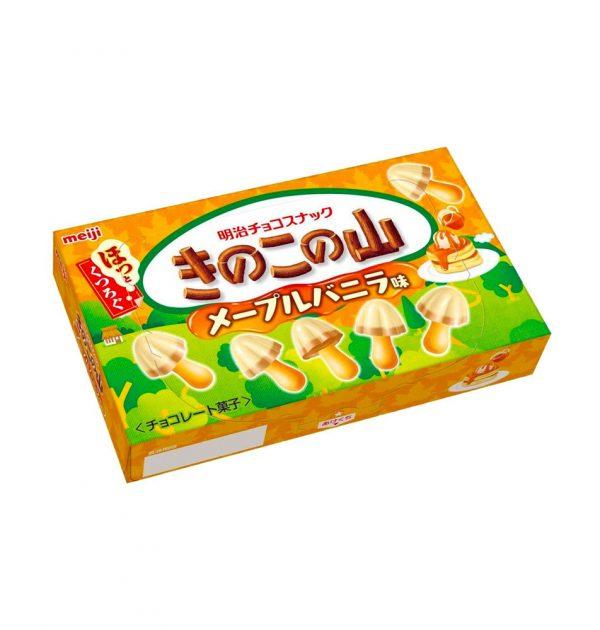 MEIJI Kinoko No Yama Mushroom Mountain Maple Vanilla Flavour Made in Japan
