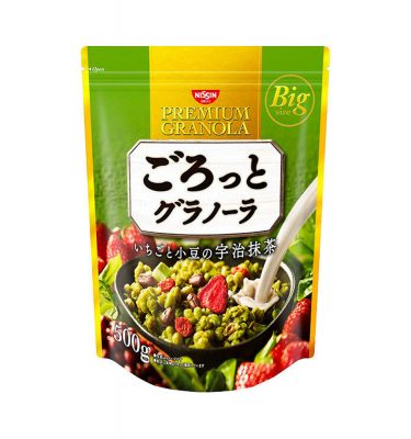 NISSIN Gorotto Granola Matcha 500g Made in Japan