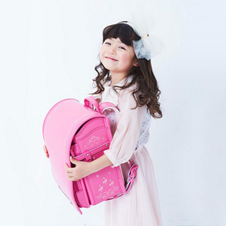 SEIBAN Randoseru Model Royal Romantic Pink - Swarovski & Angel Wings