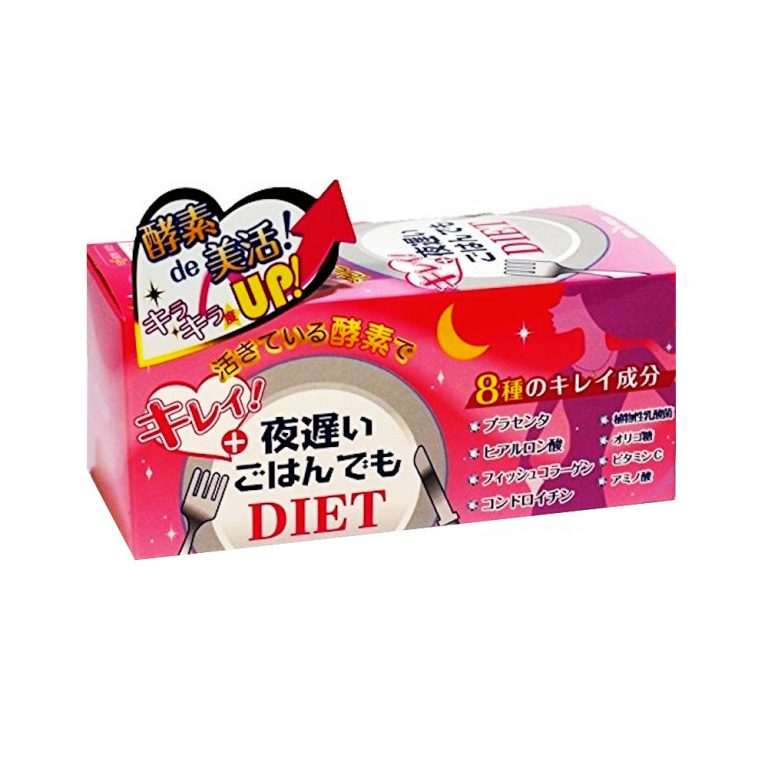 SHINYA KOSO Late Night Meal Diet & Beauty - Enzyme & Placenta 30 Days