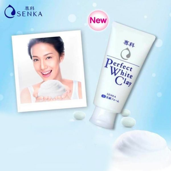 SHISEIDO Senka Perfect White Clay New Made in Japan