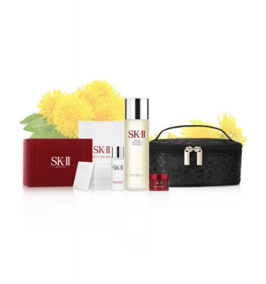 SK-II Facial Treatment Essence 230ml Dandelion Set - Vanity Pouch