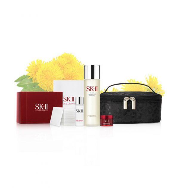 SK-II Facial Treatment Essence 230ml Dandelion Set - Vanity Pouch