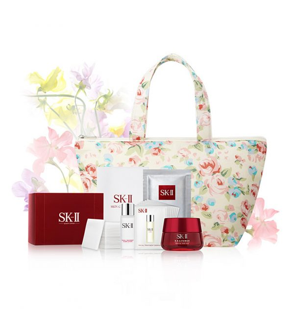SK-II Sweet Pea R.N.A Power 80g - Flower Day Bag Set