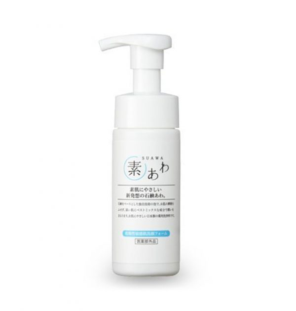 SUAWA Face Wash Foam 150ml - 100 Years of Making Soap in Japan