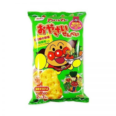 BEFCO Anpanman Vegetable Rice Crackers for Babies after Baby Food - 14 Slices in 7 Bags
