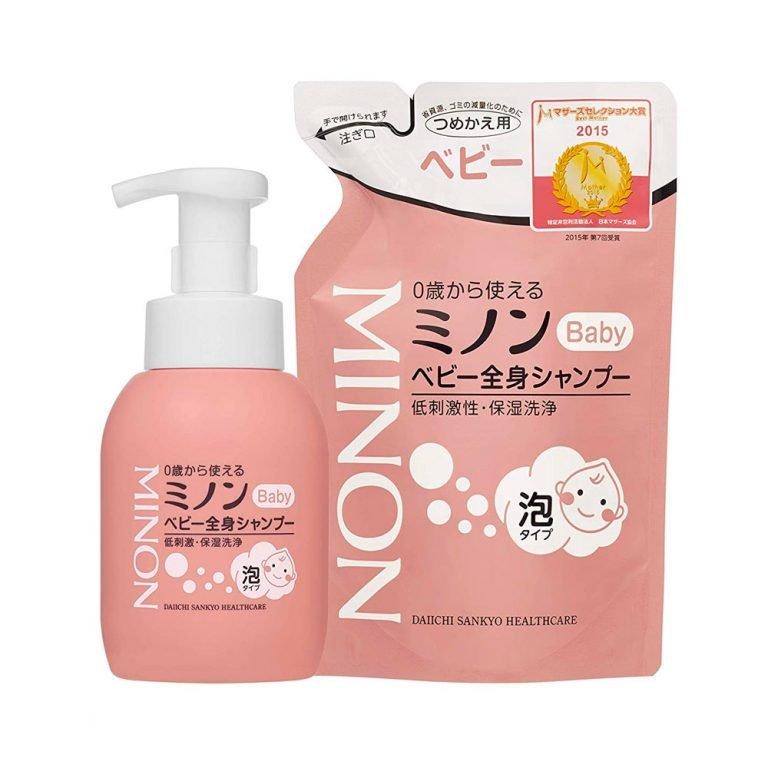 DAIICHI SANKYO Minon Baby Hair and Body Shampoo Pump