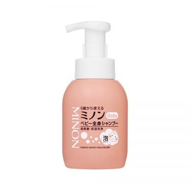 DAIICHI SANKYO Minon Baby Hair and Body Shampoo Pump - From Newborn 350ml