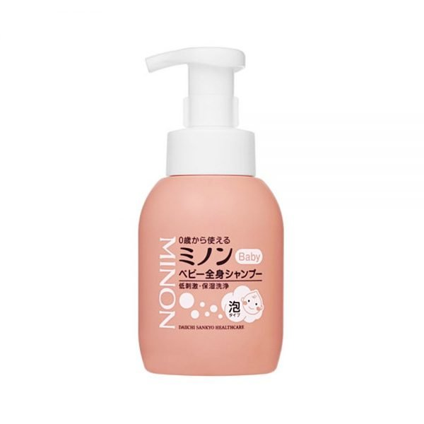 DAIICHI SANKYO Minon Baby Hair and Body Shampoo Pump - From Newborn 350ml
