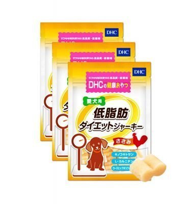 DHC Pet Dog Diet Chicken Jerky - 100g x 3 Bags