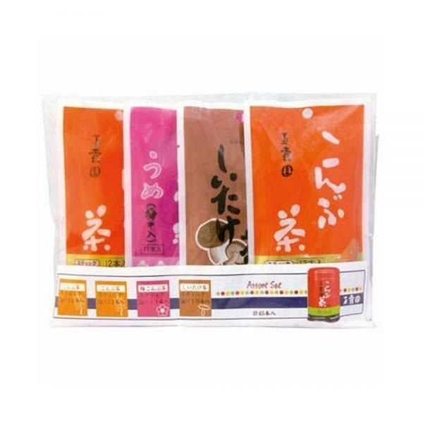 GYOKUROEN Tea Stick Assorts - Plum, Kelp Kombu & Shitake