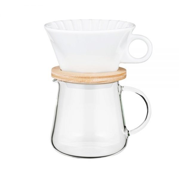 IWAKI Snowtop Coffee Pot & Dripper Set - 400ml Made in Japan