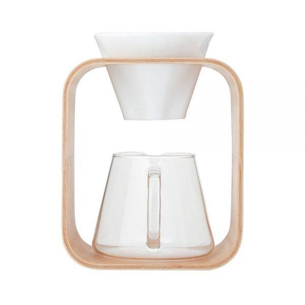 IWAKI Snowtop Coffee Pot & Dripper Set - 600ml