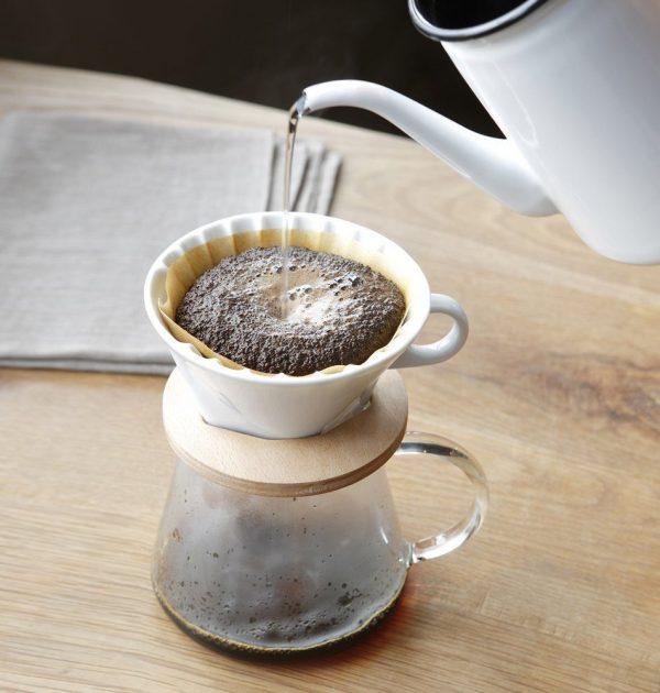 IWAKI Snowtop Coffee Pot & Dripper Set - 400ml