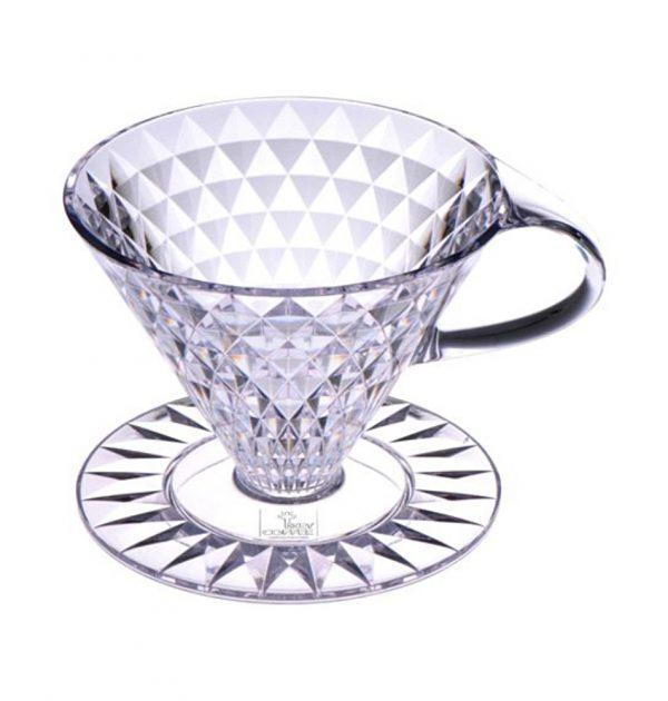KEY COFFEE Crystal Dripper 1 - 4 People Made in Japan