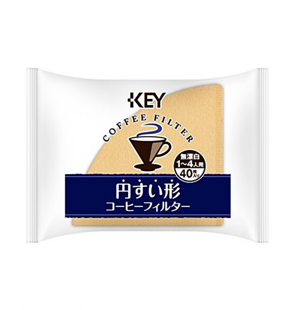 KEY COFFEE Crystal Dripper Unbleached Paper Filter 1 - 4 People - 40 Sheets Made in Japan