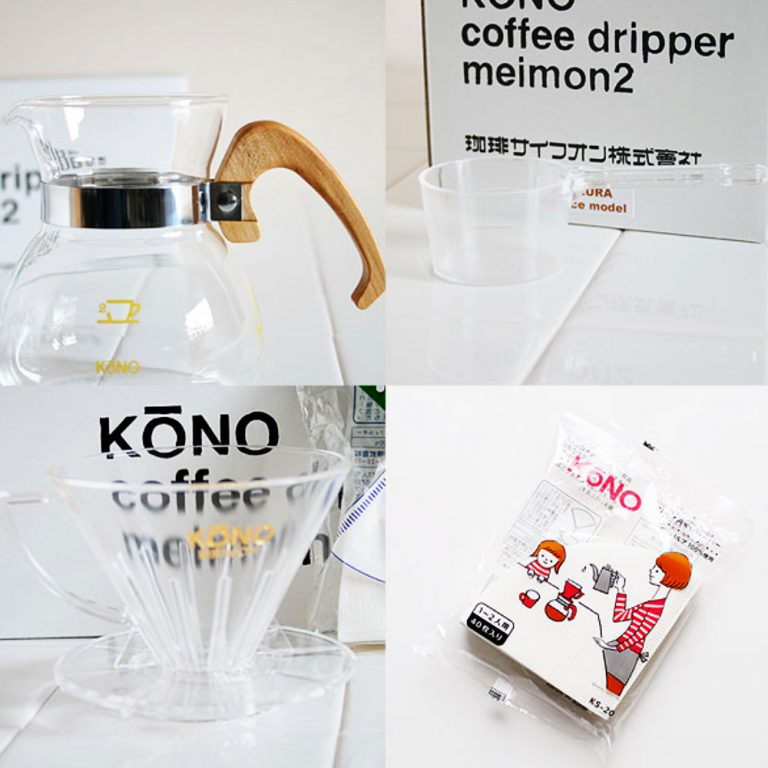 KONO Meimon Dripper Set for 2 People - Sakura Handle