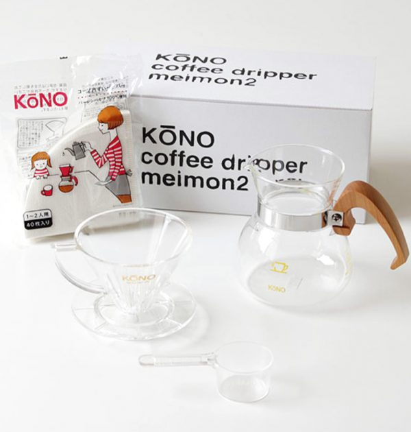 KONO Meimon Dripper Set for 2 People - Sakura Handle Made in Japan
