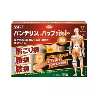 KOWA Vantelin Papp Pain Relief Patch Warm Type Made in Japan