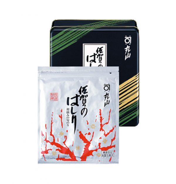 MARUYAMA NORITEN Roasted Seaweed Nori Saga no Hashiri - 5 Sheets x 5 in Can Box
