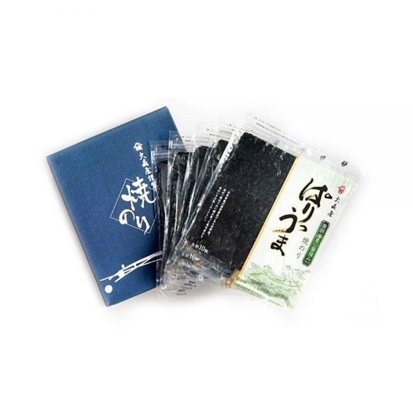 OHMORIYA Roasted Seaweed Nori from Seto Sea - 10 Sheets x 5 in Box
