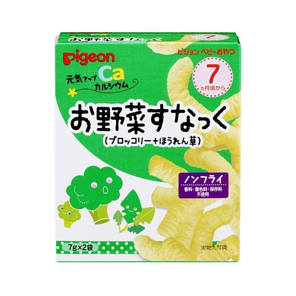 PIGEON Non-Fried Baby Vegetable Snack From 7 Months - 14g with Calcium