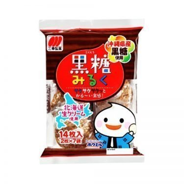 SANKO SEIKA Black Sugar Milk Rice Cracker - 14pcs