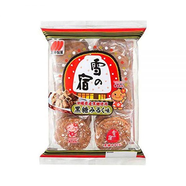 SANKO SEIKA Brown Sugar Milk Rice Cracker Made in Japan
