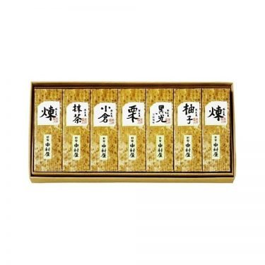 SHINJUKU NAKAMURAYA Yokan Red Bean Sweet Paste Jelly Cake Set - 7 Mini Sticks