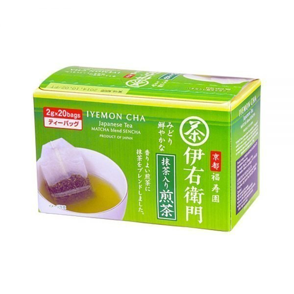 SUNTORY Iyemon Sencha Tea Bag with Matcha - Fukujuen Collaboration 2g x 20 Bags