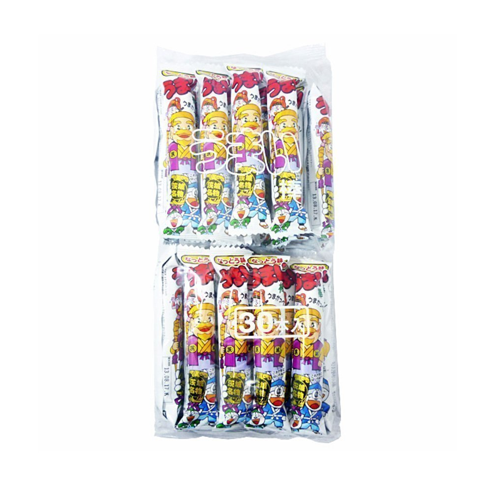 YAOKIN Umai Bar Umaibo Dagashi Snack - Natto Fermented Beans x 30pcs