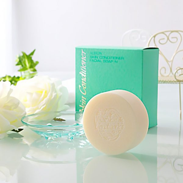 ALBION Skin Conditioner Facial Soap N With Original Soap Dish