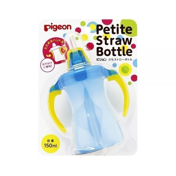 PIGEON Petit Straw Bottle Aqua Blue - 150ml
