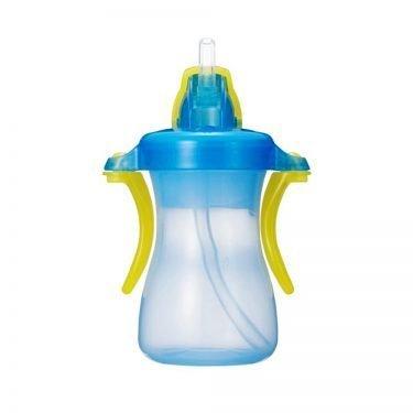 PIGEON Petit Straw Bottle Aqua Blue