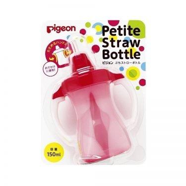 PIGEON Petit Straw Bottle Strawberry Pink